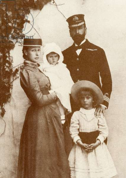 Prince Louis of Battenberg and family