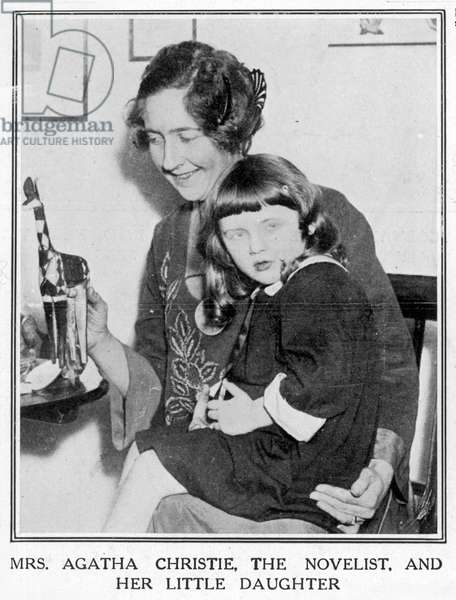 Agatha Christie and her daughter, 1926.