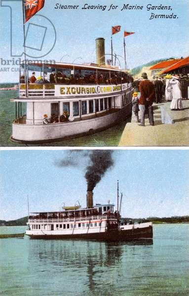 Steamer leaving for Marine Gardens, Bermuda