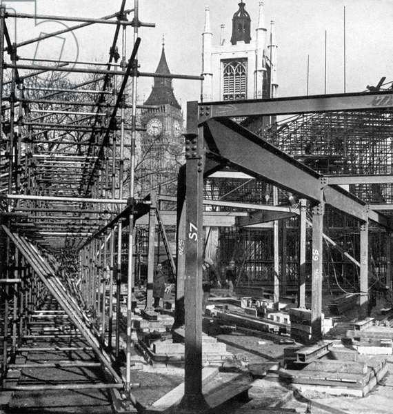 1937 Coronation, stands constructed in Parliament Square
