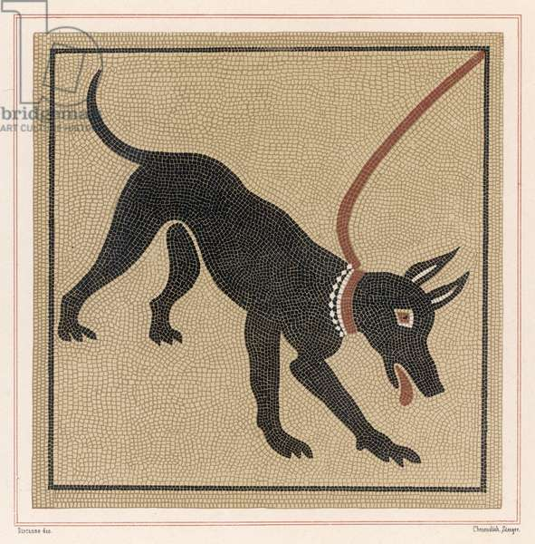 MOSAIC OF ROMAN DOG