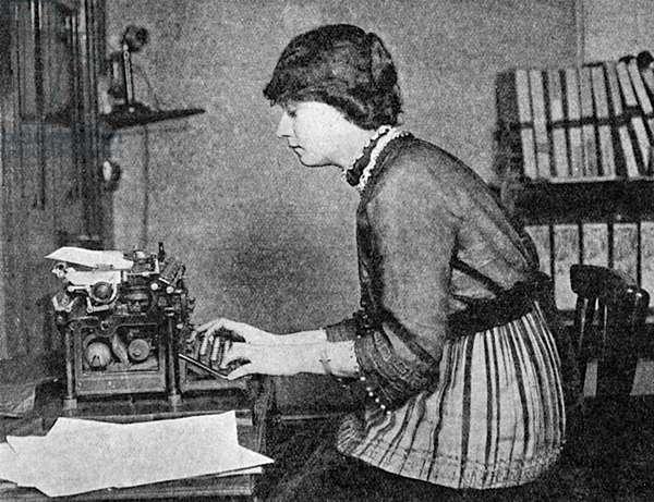 Elizabeth Asquith at work