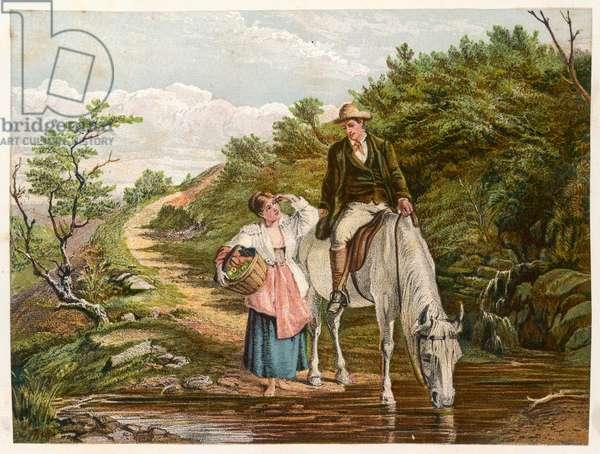 SOCIAL/HORSE & RIDER 19C