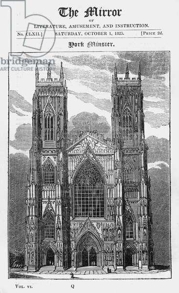 York Minster, 1825.