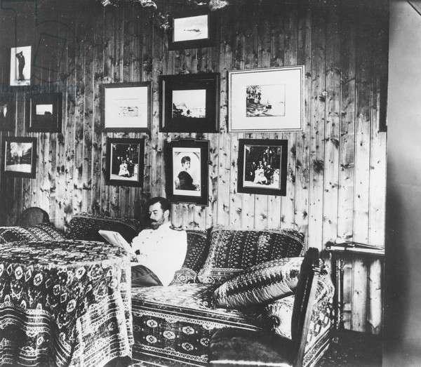 Tsar Nicholas II in his hunting Lodge, 1894