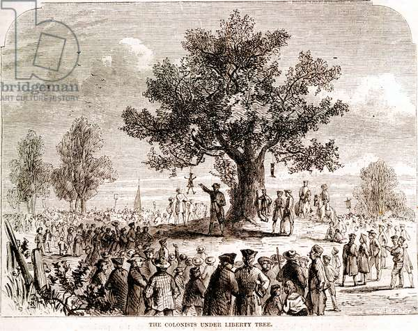 Colonists Under Liberty Tree, America