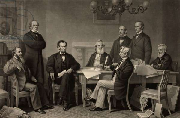 Reading of the Emancipation Proclamation, Abraham Lincoln