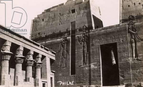 The Temple of Philae, Nile, Egypt