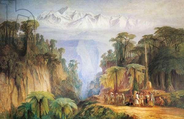 Mount Kanchenjunga from Darjeeling, by Edward Lear