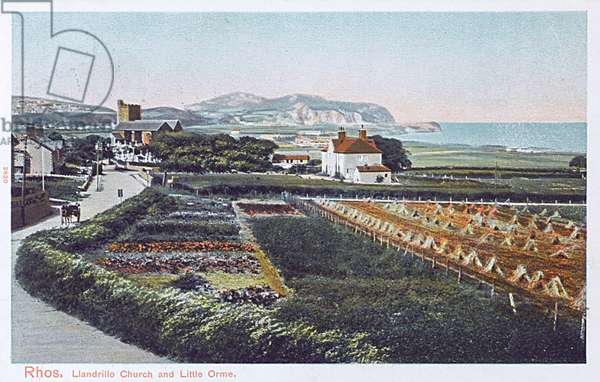 Rhos, North Wales - Llandrillo Church and Little Orme