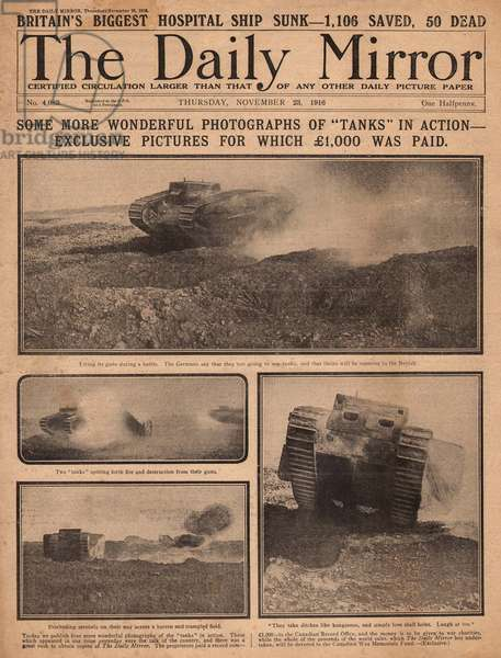 Allied tanks in action, WW1
