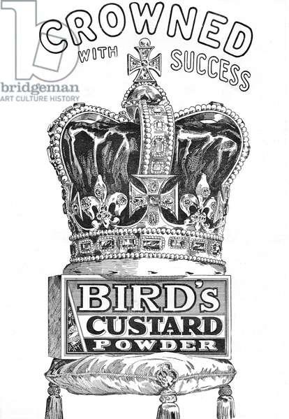 1902 Coronation Bird's Custard Powder advertisement
