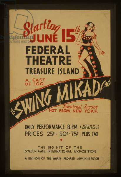 Federal Theatre on Treasure Island Swing mikado A cast of 10