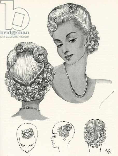 Pompadour hairstyle 1940s
