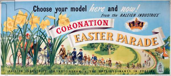 Poster, Coronation Easter Parade of bicycles