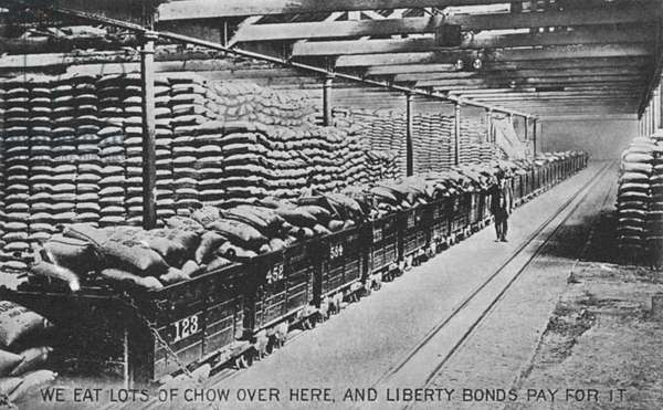 American first world war propaganda: liberty bonds.
