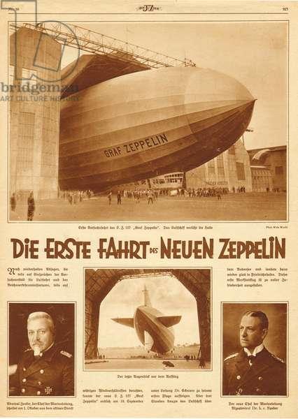 Graf Zeppelin, maiden flight