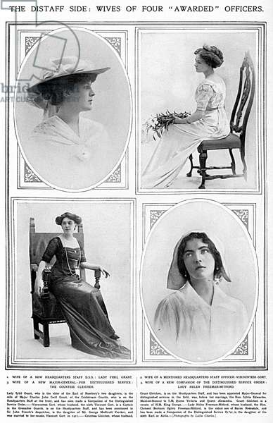 Wives of four awarded officers, WW1