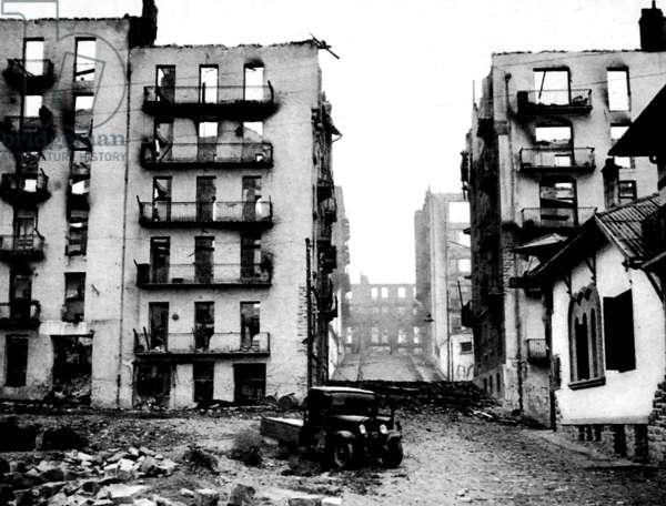 War-torn Irun; Spanish Civil War, 1936.
