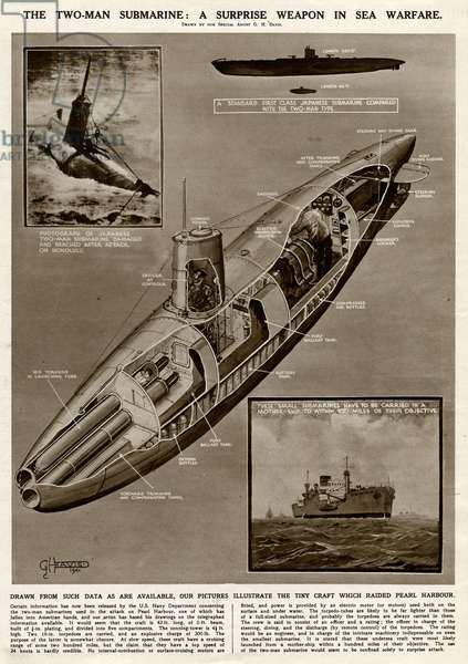Japanese two-man submarine by G. H. Davis