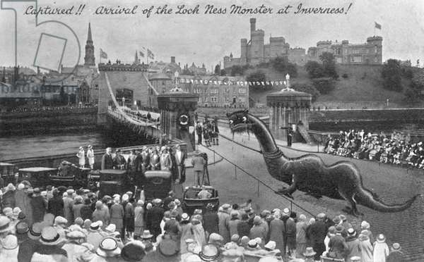 The arrival of the Loch Ness Monster at Inverness!