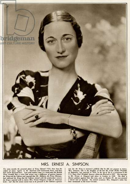 Mrs Ernest A. Simpson