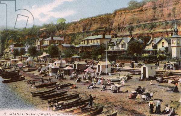 The Beach at Shanklin, Isle of Wight, Hampshire, England