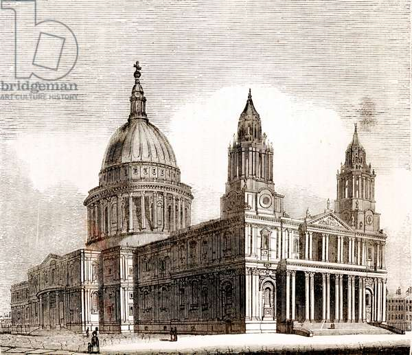 Nw View of St Paul\'s Cathedral, London