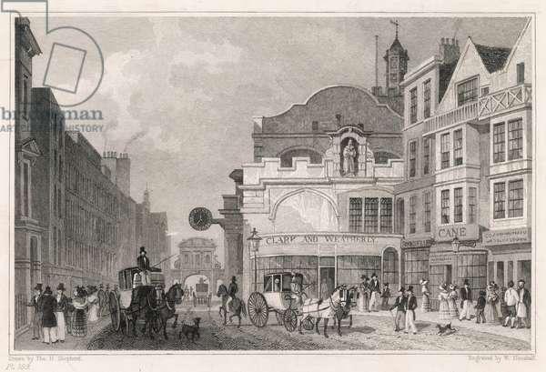 FLEET ST/TEMPLE BAR 1831