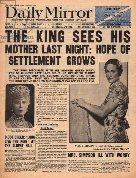 Abdication Crisis -- Edward VIII and Mrs Simpson