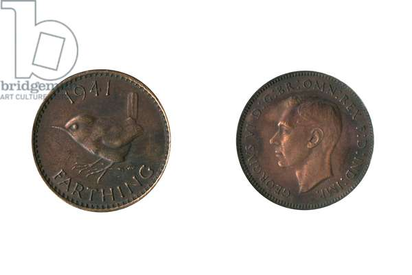 British coin, George VI farthing