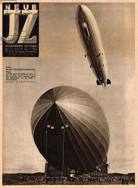 Hindenburg and Graf Zeppelin airships