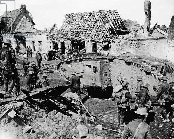 Village on Western Front, France, WW1