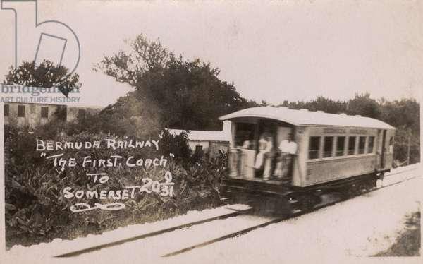 Bermuda Railway -The first coach to Somerset