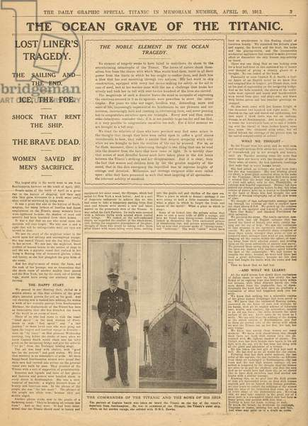 Coverage of the Titanic disaster