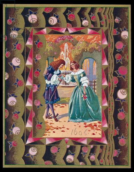 Chocolate box design, 17th century couple