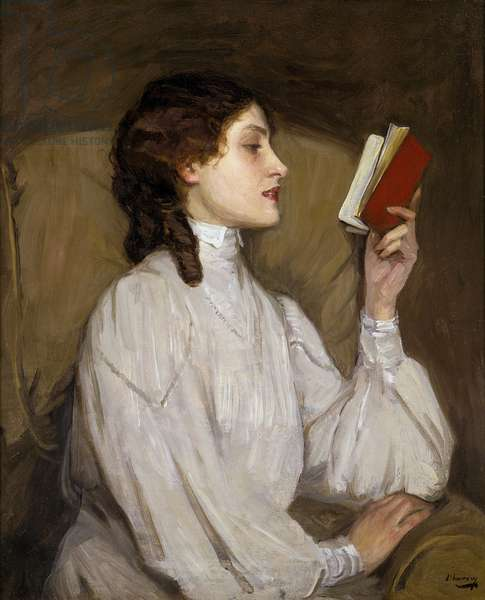 Miss Auras: The Red Book, by Sir John Lavery