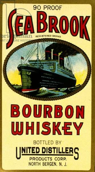 Label design for Sea Brook Bourbon Whiskey
