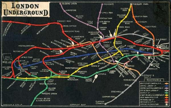 Franco-British Exhibition - London Underground plan