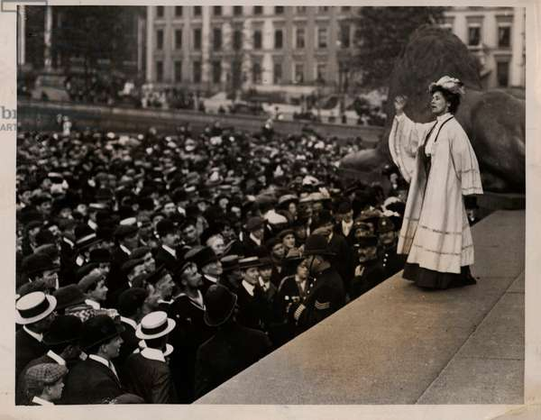 Suffragette Emmeline Pankhurst Trafalgar Square