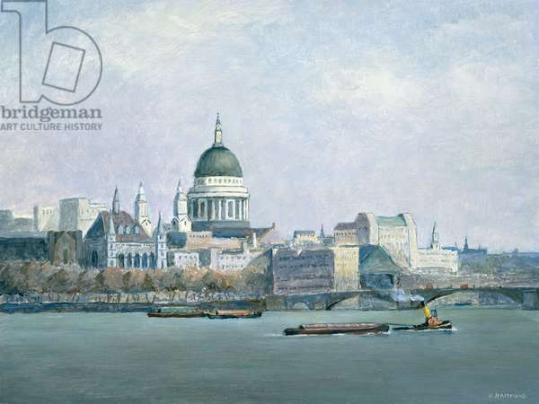 St Paul\'s and The River Thames