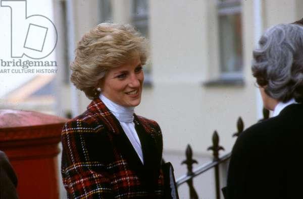Princess Diana visiting Truro, Cornwall