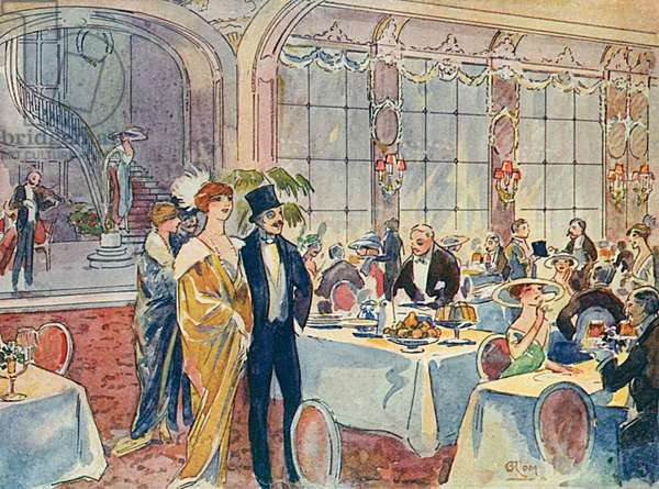 SOCIAL/PARIS DINERS 1913