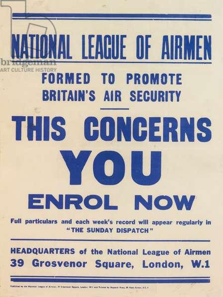 National League of Airmen Poster