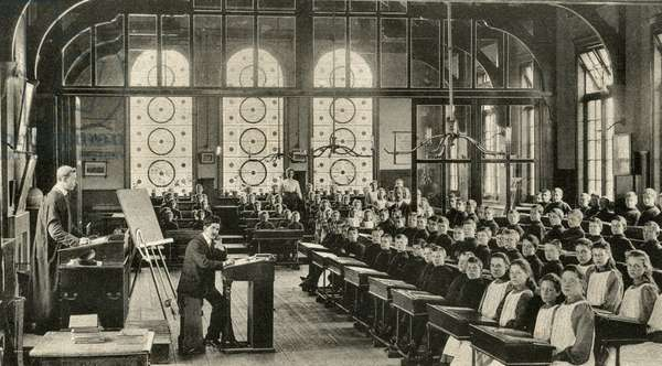 School Room at the Metropolitan and City Police Orphanage, T