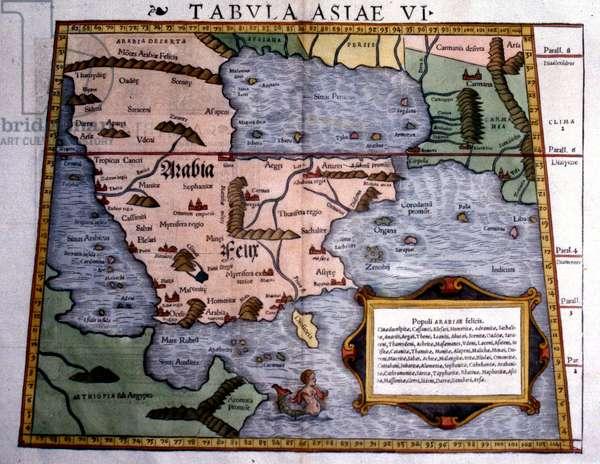 15th century Map of Arabia