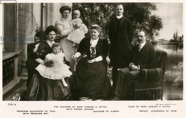 Duke of Saxe-Coburg Gotha and Prince of Teck with Family