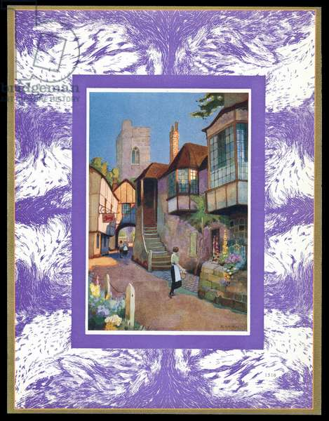 Chocolate box design, village street scene