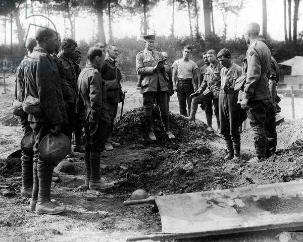 Funeral of Anzac soldier, Western Front, WW1