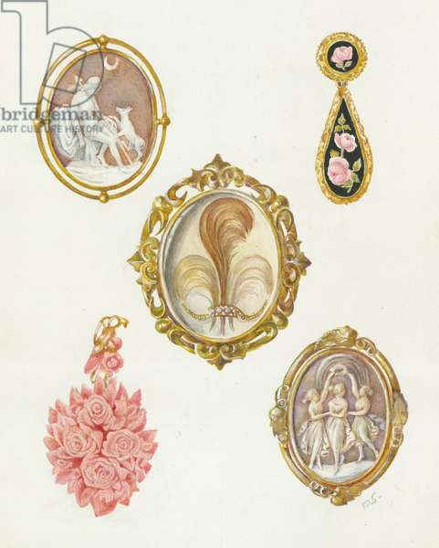 Victorian Jewellery - including cameos and pendants